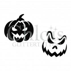 Citrouilles n°8404 pochoir pour tatouage d'halloween
