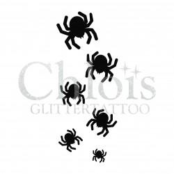 Araignées n°8405 pochoir pour tatouage d'halloween