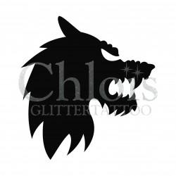 Loup-garou n°8407 pochoir pour tatouage