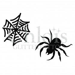 Araignée n°8406 pochoir pour tatouage d'halloween