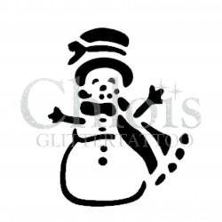 Pochoir n°8803 bonhomme de neige