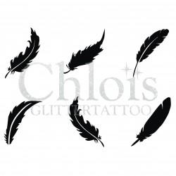Plumes n° 9405 pochoir minis tattoos