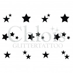 Minis Etoiles n° 9408 pochoir tattoos multiple