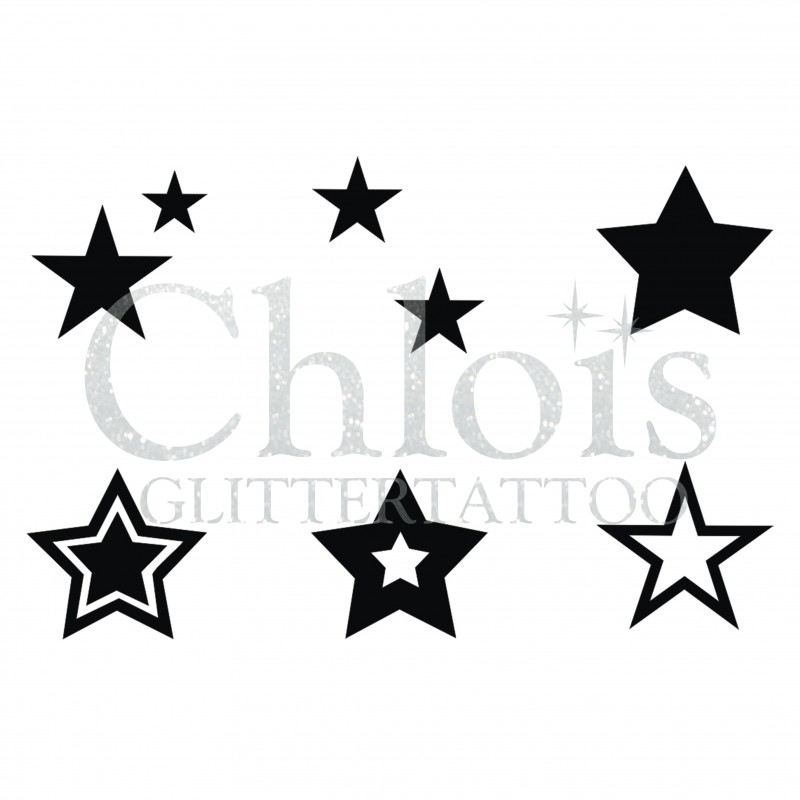 Etoiles N 9409 Pochoir Tattoos Multiple Maquillages Magiques