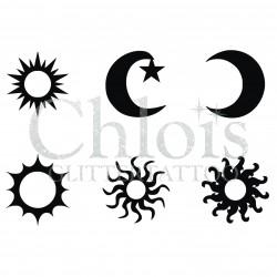 Stencils multi n° 9410 Soleil et Lune
