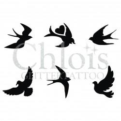 Oiseaux n° 9170 tatouages d'oiseaux