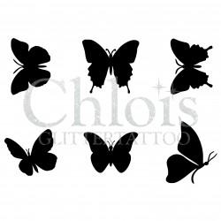 Papillons n° 9200 tatouages temporaires