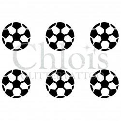 Pochoir n° 9651 ballons de foot