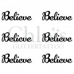 Pochoir n° 9700 tatouage Believe