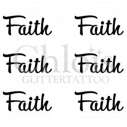 Pochoir n° 9702 tatouage Faith