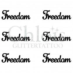 Pochoir n° 9703 tatouage Freedom