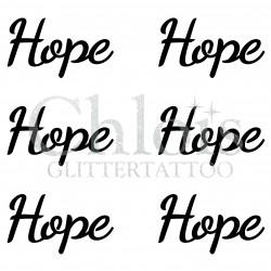 Pochoir n° 9705 tatouage Hope
