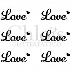 Pochoir n° 9706 tatouage Love