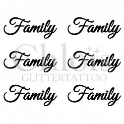 Pochoir n° 9708 tatouage Family