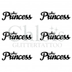 Pochoir n° 9709 tatouage Princess