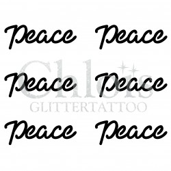 Pochoir n° 9710 tatouage Peace