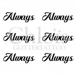 Pochoir n° 9711 tatouage Always