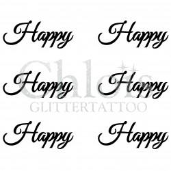 Pochoir n° 9712 tatouage Happy