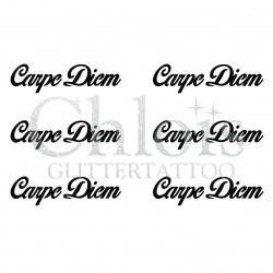 Pochoir n° 9713 tatouage Carpe Diem