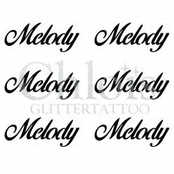 Pochoir n° 9714 tatouage Melody