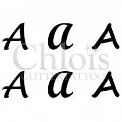 """Pochoir n° 9720 tatouage lettre """"A"""""""