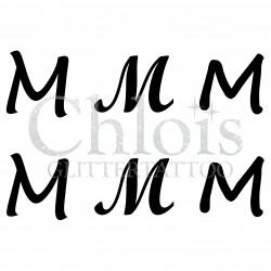 "Pochoir n° 9733 tatouage lettre ""M"""