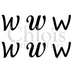 "Pochoir n° 9743 tatouage lettre ""W"""