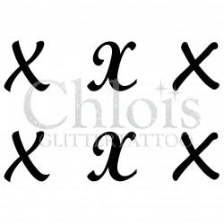 "Pochoir n° 9744 tatouage lettre ""X"""