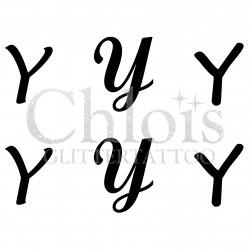"Pochoir n° 9745 tatouage lettre ""Y"""