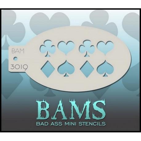 Pochoir maquillage aérographe Jeu de carte Bams BadAssStencils 3019