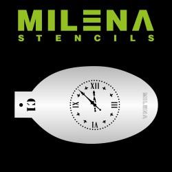 Pochoir Horloge Milena Potekhina