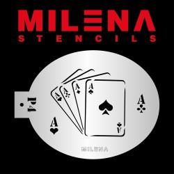 Pochoir Jeu de cartes Milena Potekhina