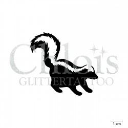 Moufette n°1013 stencil pour tatouage