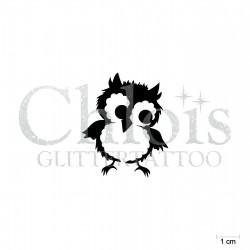 Hibou N°1710 pochoir chloïs Glittertattoo pour tatouage temporaire