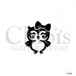 Miss Hibou N°1711 pochoir chloïs Glittertattoo pour tatouage temporaire