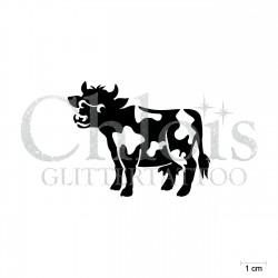 Vache N°1812 pochoir chloïs Glittertattoo pour tatouage temporaire
