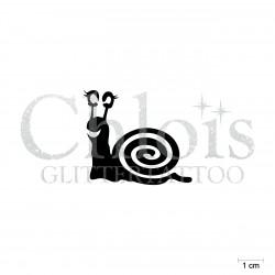 Escargot N°1813 pochoir chloïs Glittertattoo pour tatouage temporaire
