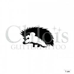 Hérisson N°1814 pochoir chloïs Glittertattoo pour tatouage temporaire