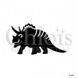 Triceratops N°1902 pochoir chloïs Glittertattoo pour tatouage temporaire