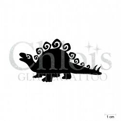 Stegosaure N°1903 pochoir chloïs Glittertattoo pour tatouage temporaire
