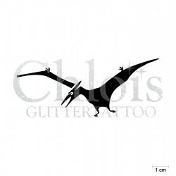 Ptéranodon N°1904 pochoir chloïs Glittertattoo pour tatouage temporaire