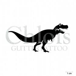 Tyrannosaure N°1907 pochoir chloïs Glittertattoo pour tatouage temporaire
