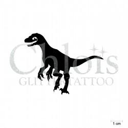 Raptor N°1906 pochoir chloïs Glittertattoo pour tatouage temporaire