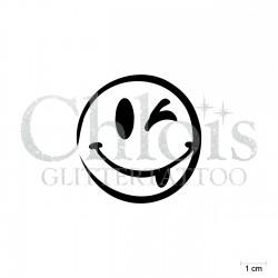 Smiley Billy N°4043 pochoir chloïs Glittertattoo pour tatouage temporaire
