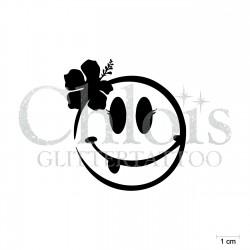 Smiley Babette N°4044 pochoir chloïs Glittertattoo pour tatouage temporaire