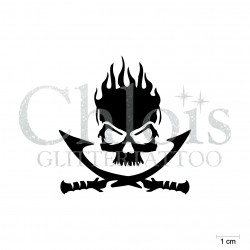 Pirate squelette N°5308 pochoir chloïs Glittertattoo pour tatouage temporaire