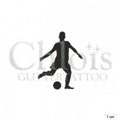 Footballeur N°6501 pochoir chloïs Glittertattoo pour tatouage temporaire