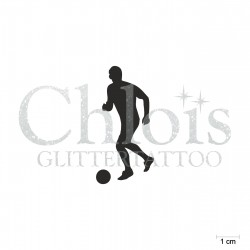 Footballeur N°6502 pochoir chloïs Glittertattoo pour tatouage temporaire