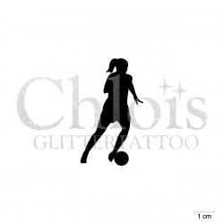 Footballeuse N°6503 pochoir chloïs Glittertattoo pour tatouage temporaire