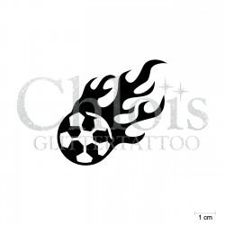 Ballon en flamme N°6505 pochoir chloïs Glittertattoo pour tatouage temporaire